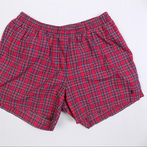 94f7c985d7 Polo Ralph Lauren Red Plaid Swim Trunks Xl. M_5aa33c06caab44f46a753137